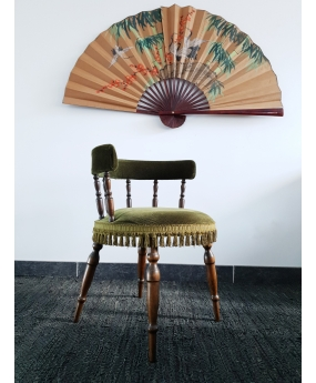 "Chaise ""pompom"" vintage"